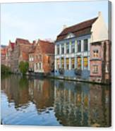 Channel In Ghent Canvas Print