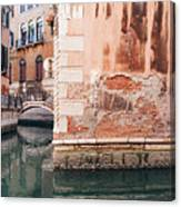 Canal In Venice, Italy Canvas Print