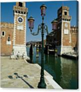 Canal Leading Into The Arsenale Canvas Print