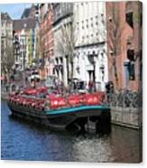 Canal Lunch Canvas Print