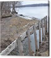 Canal Meets River Canvas Print