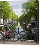 Canal Of Amsterdam Canvas Print