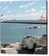 Canal Park In Duluth  Canvas Print