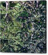 Canal Reflections Abstract Canvas Print