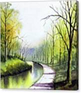 Canal Sowerby Bridge Canvas Print