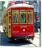 Canal Street Cable Car Canvas Print