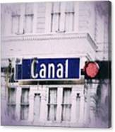 Canal Street In The Big Easy Canvas Print