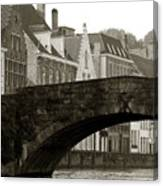 Canal View Of Bruges Canvas Print