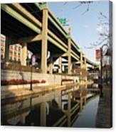 Richmond Canal Walk Through Shockoe Bottom Canvas Print