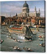 Canaletto: Thames, 18th C Canvas Print