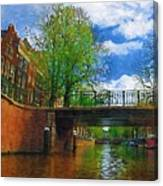 Canals Of Amsterdam Canvas Print