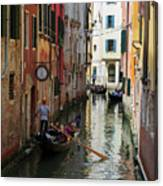 Canals Of Venice Italy Canvas Print