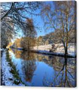 Canalside Winter Wonderland Canvas Print