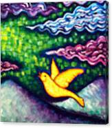 Canary Escapes Coalmine Canvas Print