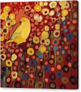 Canary In Red Canvas Print
