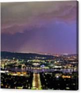 Canberra Stormy Night Canvas Print