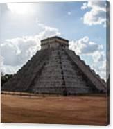 Cancun Mexico - Chichen Itza - Temple Of Kukulcan-el Castillo Pyramid 1 Canvas Print