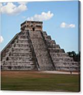 Cancun Mexico - Chichen Itza - Temple Of Kukulcan-el Castillo Pyramid 2 Canvas Print