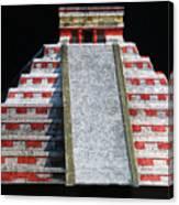 Cancun Mexico - Chichen Itza - Temple Of Kukulcan-el Castillo Pyramid Night Lights 1 Canvas Print
