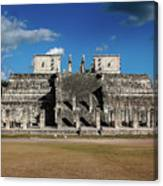 Cancun Mexico - Chichen Itza - Temple Of The Warriors Canvas Print