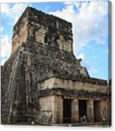 Cancun Mexico - Chichen Itza - Temples Of The Jaguar On The Great Ball Court Canvas Print
