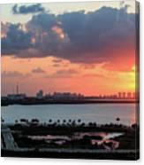 Cancun Mexico - Sunrise Over Cancun Canvas Print