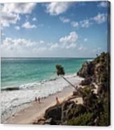 Cancun Mexico - Tulum Ruins - Caribbean Beach Canvas Print