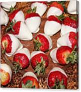 Candied Strawberries Canvas Print