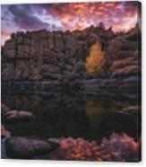 Candle Lit Lake Canvas Print