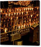Candle Offerings St. Patrick Cathedral Canvas Print