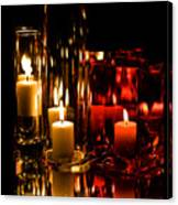 Candle Reflection Canvas Print