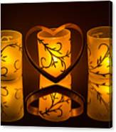Candlelight Love Canvas Print