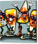 Candy Corn Gang Canvas Print