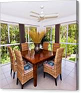 Cane Dining Setting Canvas Print