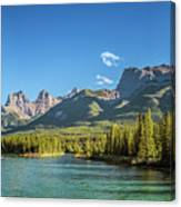 Canmore Alberta Golden Hour Canvas Print