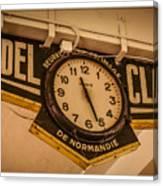Cannes - Market Clock  Canvas Print