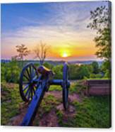 Cannon At Sunset Canvas Print