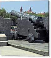 Cannon At The Castillo Canvas Print