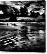 Cannon Beach At Dusk Canvas Print