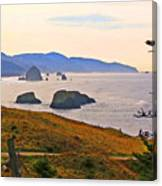 Cannon Beach From Ecola State Park Canvas Print