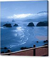 Blue Waters On Cannon Beach Canvas Print