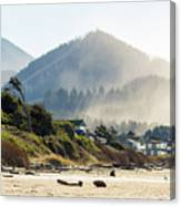 Cannon Beach Oceanfront Vacation Homes Canvas Print