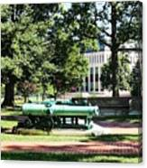 Cannon Near Tecumseh Statue Canvas Print