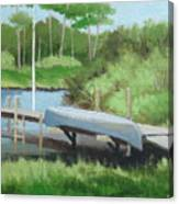 Canoe Dock Canvas Print