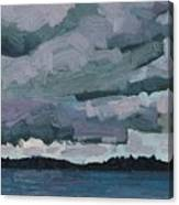 Canoe Lake Rain Clouds Canvas Print