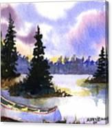 Canoe On Land Canvas Print