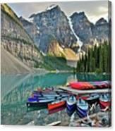 Canoe Paradise Canvas Print