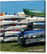 Canoes Cascaded Canvas Print