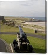 Canon Defends Bamburgh Castle Canvas Print