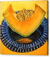 Cantaloupe Oil Painting Canvas Print